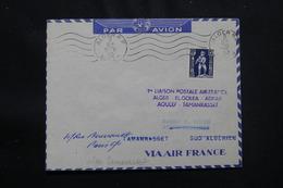 ALGÉRIE - Enveloppe 1er Vol Ligne Alger / El Goléa /Adrar /Aoulef / Tamanrasset Du 11 Novembre 1952 - L 57027 - Covers & Documents