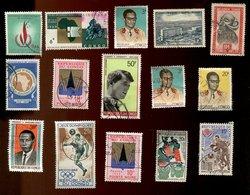 Congo - Oblitéré - Lot De 15 Timbres Scannés Recto Verso - Congo - Brazzaville