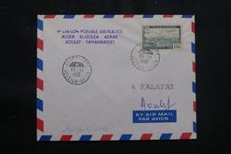 ALGÉRIE - Enveloppe 1er Vol Ligne Alger / El Goléa /Adrar /Aoulef / Tamanrasset Du 11 Novembre 1952 - L 57028 - Covers & Documents