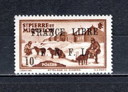 SAINT PIERRE ET MIQUELON N° 250 NEUF SANS CHARNIERE COTE  24.00€  ATTELAGE ANIMAUX - Neufs
