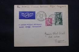 ALGÉRIE - Enveloppe 1er Vol Ligne Alger / Toggourt Du 2 Novembre 1952 - L 57030 - Cartas