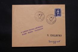 ALGÉRIE - Enveloppe 1er Vol Ligne Alger / Toggourt Du 2 Novembre 1952 - L 57031 - Covers & Documents