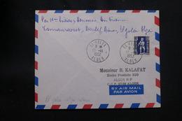 ALGÉRIE - Enveloppe 1er Vol De La Ligne Tamanrasset / Alger Du 13 Novembre 1952 - L 57033 - Covers & Documents