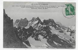 (RECTO / VERSO) LES ALPES PITTORESQUES EN 1913 - N° 142 - VUE DU SOMMET DE LA BRECHE DE LA MEIJE - BEAU CACHET - CPA - France