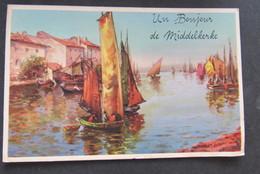 Carte Postale Un Bonjour De Middelkerke - Middelkerke