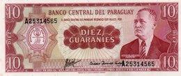 PARAGUAY 10 GUARANIES 1963 P-196a.2  UNC - Paraguay
