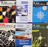 LOT DE 6 Plans De Réseau TRANSPORTS PUBLICS DE GENEVE.2003.2004.2011.2012.2013.2014.tramways.bus.suisse. - Europe