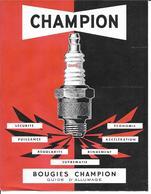 Publicité Automobile - Bougies Champion D'Allumage - Publicités