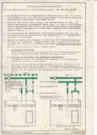 (AD393) Original Einbauanleitung Installationsplan MIELE Waschautomat 506 - 706 - 507 Und 707 - Herstelhandleidingen