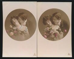 2 FOTOKAARTEN  VERLIEFDEN - Couples