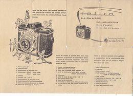 (AD394) Original Bedienungsanleitung VREDEBORCH Felica Kamera 6x6, 3-sprachig - Herstelhandleidingen