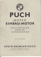 (AD395) Original Einbauanleitung PUCH Moped Einbau-Motor, Steyr-Daimler-Puch Graz - Shop-Manuals