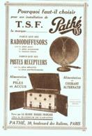 """PUB TSF   """" PATHE """"    1928 ( 1 ) - Radio & TSF"""