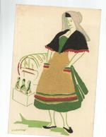 CPA ,Th. Fant., N° E.32, Costumes Regionaux ,Carte Velours Et Sablé De Champagne ,Ed. Gautier - Autres