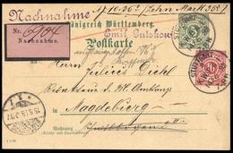1875, Altdeutschland Württemberg, 46 + GA, Brief - Wurtemberg