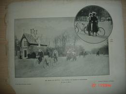 Lamina-Paris-1900--1,au Bois Le Matin--Le Noveau Jeu (cycles Et Automobiles)--Au Carrefour De La Rue De Rivoli - Ancianas (antes De 1900)
