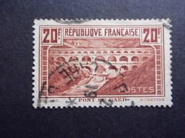 FRANCE YVERT 262A PONT DU GARD OBLITÉRÉS - France