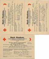 1946/48 - MOSKAU-RECHNITZ (AUSTRIA),ROTES KREUZ,  Kriegsgefangene Post, 3 Stk. - 1923-1991 URSS