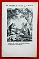 CPA Fantaisie/ Fable/ La Génisse, La Chèvre, La Brebis Avec Le Lion - Contes, Fables & Légendes