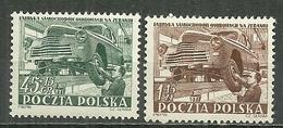 POLAND MNH ** 691-692 Industrie Automobile Auto Voiture Atelier De Montage - Unused Stamps