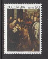 1991 Colombia Christmas Navidad Noel Complete Set Of 1  MNH - Colombie