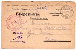 CARTE DE PRISONNIER GUERRE 1914 18   -  SECTION RUSSE  HOTEL DE VILLE DE LYON 1917 - Guerre De 1914-18