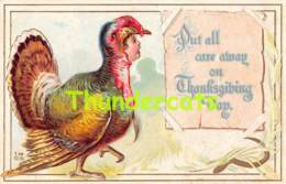CPA EN RELIEF GAUFREE ILLUSTRATEUR EMBOSSED CARD THANKSGIVING ELLEN CLAPSADDLE TURKEY - Thanksgiving