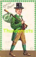 CPA EN RELIEF GAUFREE  SAINT  PATRICK'S DAY EMBOSSED CARD LEPRICORN JULIUS BIEN - Saint-Patrick's Day
