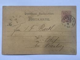 GERMANY 1876 Postcard P5 Berlin To Lauf Bei Nurnberg - `Berliner Brodfabrik Act. - Ges.` - Brieven En Documenten
