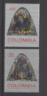 1995 Colombia Christmas Noel Navidad  Complete Set Of 2  MNH - Colombie