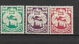 G03-1923 Deutsche Reich - Danzig-Michel Nummer 112-114(40,60 Pf + 115 (1M ) * - American,British And Russian Zone