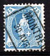 """Mi Nr 89 D - """"MONTREUX"""" - Bahnhofstempel - (ref. 1953) - Oblitérés"""