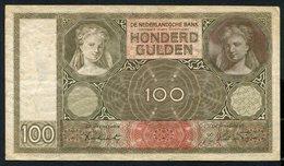 Netherlands  - 100 Gulden 1930 I 'Luitspelende Vrouw' / Fe - See The 2 Scans For Condition.(Originalscan ) - [1] …-1815 : Ante Regno