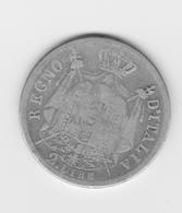 2 Lires Royaume De Napoléon 1812 M  TB - Temporary Coins