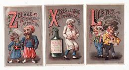 Chromo  CHARLES SAUNIER  à Besançon    Lot De 3    Lettres De L'alphabet     11.5 X 7.3 Cm - Altri