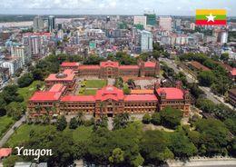 1 AK Myanmar (Burma) * Blick Auf Die Größte Stadt Des Landes Auf Rangun (offiziell Yangon) - Luftbildaufnahme * - Myanmar (Burma)