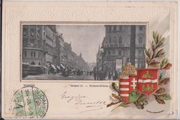 BUDAPEST (Ungarn Hongrie Hungary) - Kerepesi-Ut Kerepeser-Strasse Szentendre Eugen Dumtsa Litho Heraldic Blason - Hongrie