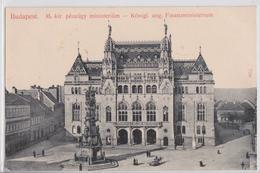 BUDAPEST (Ungarn Hongrie Hungary) - M. Kir. Pénzügy Ministerium Taussig A. - Hongrie