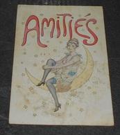 Amitiés ::: Pin Up Assis Sur La Lune Seins Nus - Illustrateurs Signer E. Meier : Voir état :: Femme  ----- 522 - Altre Illustrazioni