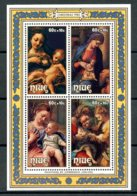 Niue, 1985, Christmas, Correggio Paintings, MNH, Michel Block 94 - Niue