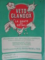 Ancien Protège Cahier ALIMENT DU BETAIL VETO GLANDOX PETIT MONGOBERT PALAISEAU - Agriculture