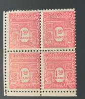 Bloc 4 Timbres Neufs ARC De Triomphe 1,50 Frs YT 625 1944 - 1944-45 Arc De Triomphe