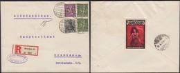 Germany - Infla. Einschreiben MiF Brief Mit Reklamemarke, Jean Vouris Cigaretten- DRESDEN 12.4.1922. - Allemagne