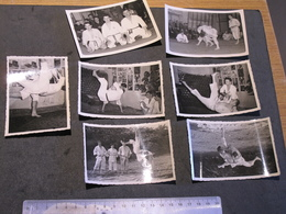 JUDO-SERAING1953-CHAMPIONNAT DU CLUB DE SERAING-3 FINALISTES: 7 Photos N/b J.POELS-V TOMASCHIY-A THIRIONNET-voir Scans - Sports