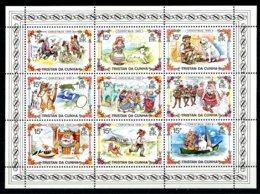 Tristan Da Cunha, 1980, Christmas, Children's Rhymes, MNH Sheet, Michel 284-292 - Tristan Da Cunha