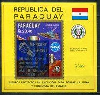 5838 - PARAGUAY - Block 433 **  (Mercury / Alan B. Shepard) - Südamerika