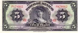 Mexico P.60 5 Peso 1969 Unc - Messico