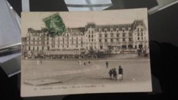 CPA - 71. CABOURG - La Plage Vue Vers Le Grand Hôtel - Cabourg