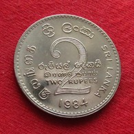 Sri Lanka 2 Rupees 1984 KM# 147 - Sri Lanka