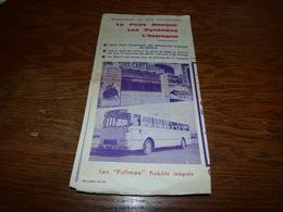 Pub Les Cars Basques Lourdes Pau Mauléon Soule La Rhune Etc Etc Tarifs Et Carte Années 50? Autocar - Publicités